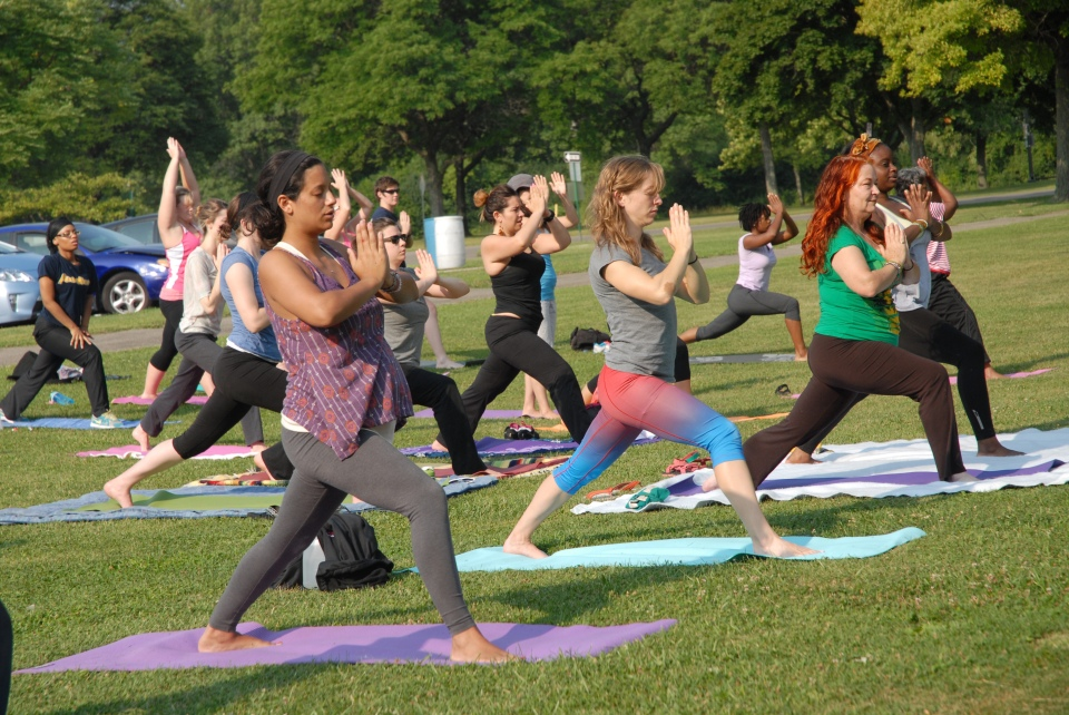 Yoga in the Park. Photo by ©Barbara Barefield