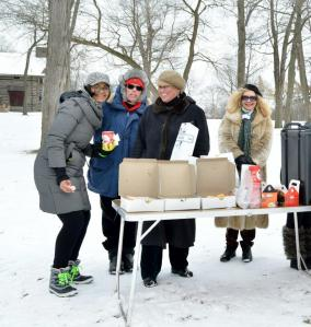 We had great volunteers at WinterFest. Thank you to Keysler Copeland for donating Tim Horton's coffee to keep our volunteers warm, and to Dona Tracey for feeding our volunteers! Photo by © Ayana Miller