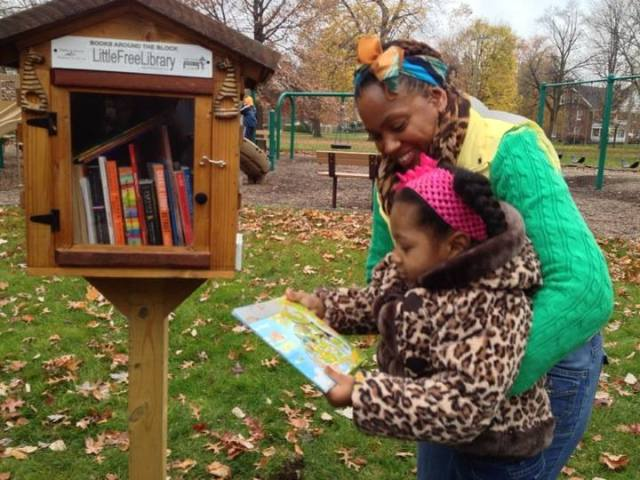 This is the Little Free Library in Rosedale Park. Our Palmer Park LFL is similar!
